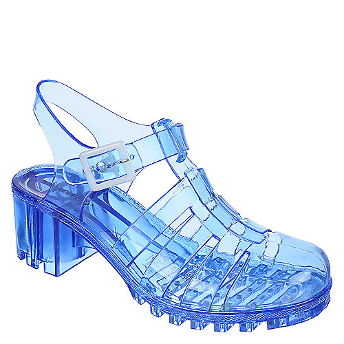 Wanted Gumball Low Heel Jelly Sandals Blue