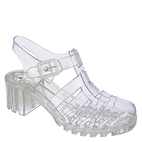 Wanted Gumball Low Heel Jelly Sandals Clear