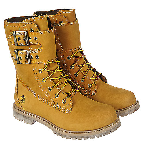 Timberland Womens Mid-Calf Boot 8IN Double Strap  Mid-Calf Boots Tan