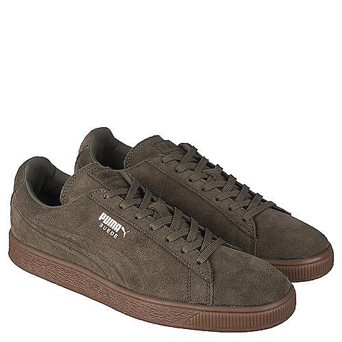 Puma Mens Casual Sneaker Suede Emboss Sneaker Green