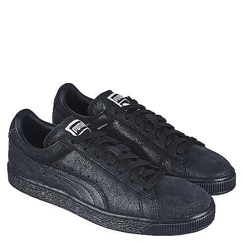 Puma Womens Casual Sneaker Suede Classic Matte & Shine Sneaker Black