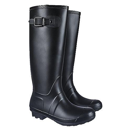 Shiekh Women's Mid-Calf Rainboot Rainny-1 Black Rain Boots
