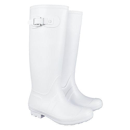 Shiekh Women's Mid-Calf Rainboot Rainny-1 White Rain Boots