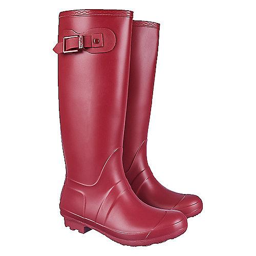 Shiekh Women's Mid-Calf Rainboot Rainny-1 Red Rain Boots