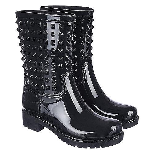Shiekh Women's Rain Boot Alida-HR-1 Black Rain Boots.5
