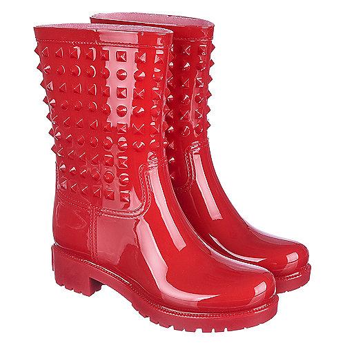 Shiekh Women's Rain Boot Alida-HR-1 Red Rain Boots