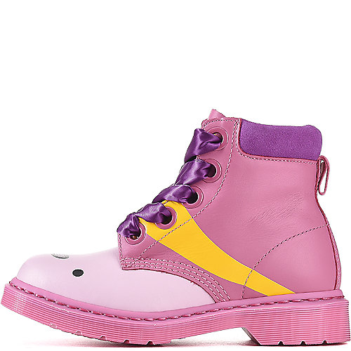 Dr. Martens Unisex Castel Casual Lace-Up Boots Pink Casual Boots
