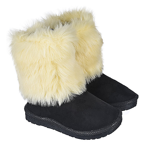 Shiekh Toddler Fur Suede Boots 238 Black Boots