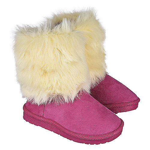 Shiekh Toddler Fur Suede Boots 238 Fuschia Boots