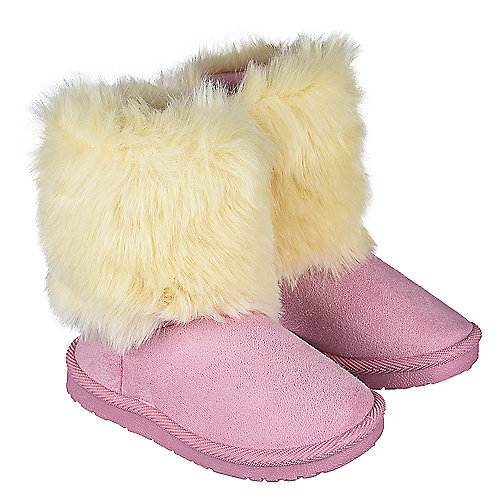 Shiekh Toddler Fur Suede Boots 238 Pink Boots