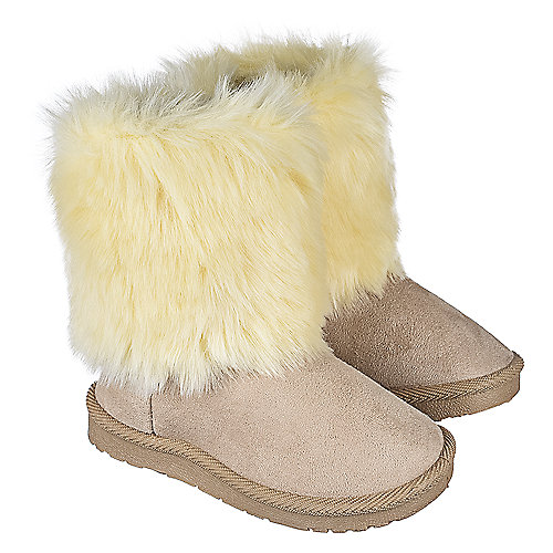 Shiekh Toddler Fur Suede Boots 238 Beige Boots
