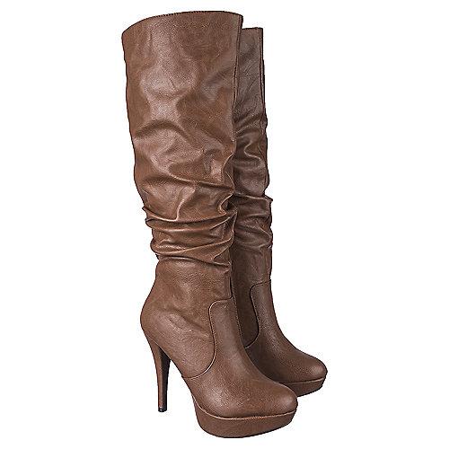 Delicious Platform High Heel Boots Lava-S Tan Platform Boots