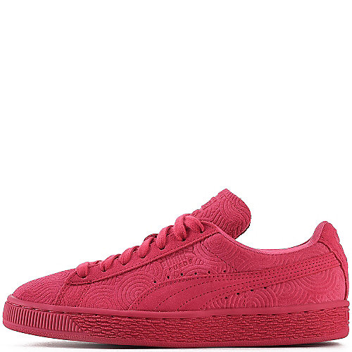 Puma Suede Classic Emboss Casual Sneakers  Red