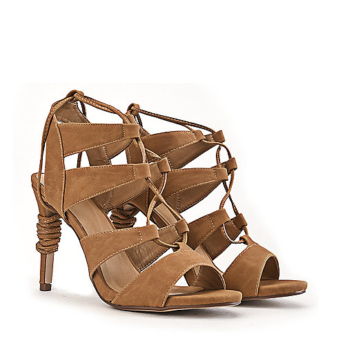 Delicious Slingback High Heel Heather-S Tan Slingback Sandals