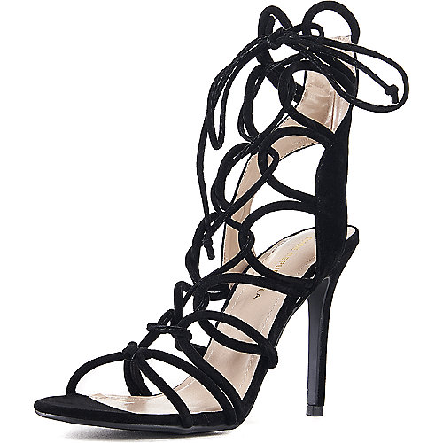 Shoe Republic LA Lace-Up High Heel Keywest Black
