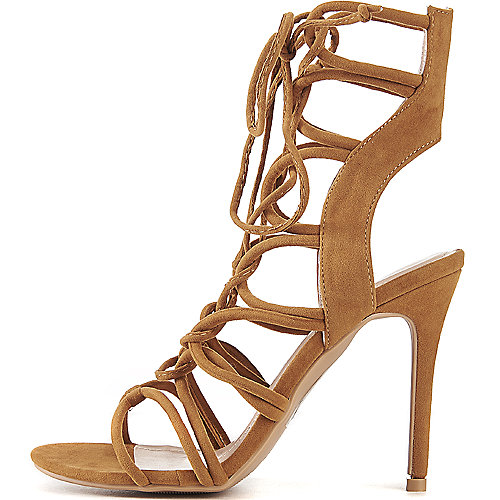 Shoe Republic LA Lace-Up High Heel Keywest Tan