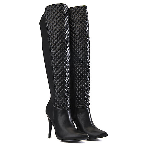 Anne Michelle Women's Knee-High Boot Lonestar-34 Black Knee-High Boots