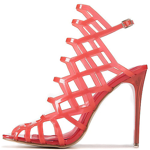 Shiekh Stunning View High Heel Sandals Red Slingback Sandals
