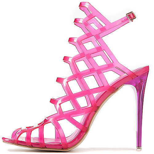 Shiekh Stunning View High Heel Sandals Pink Slingback Sandals