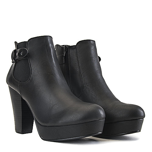Soda High Heel Ankle Boots Quote-H Black