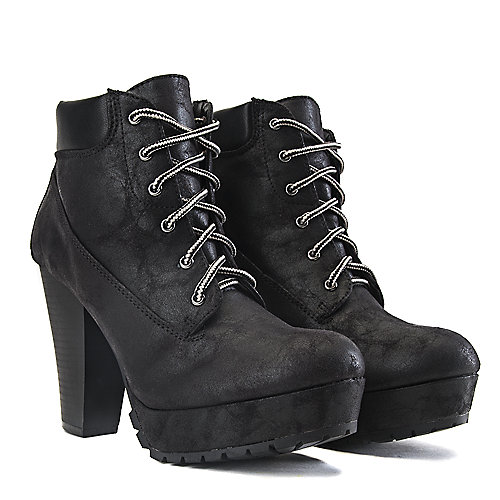 Soda High Heel Ankle Boots DB-HW2284 Black