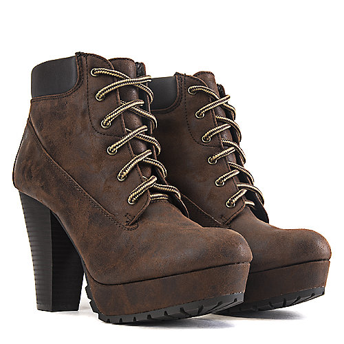 Soda High Heel Ankle Boots DB-HW2284 Brown