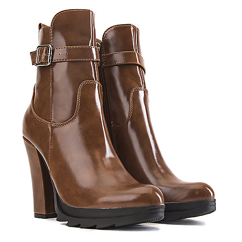 DbDk Walnut-1 High Heel Ankle Boots Tan