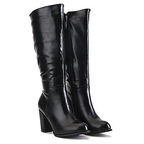 DbDk Women's Knee-High Boot Greer-2 Black Knee-High Boots