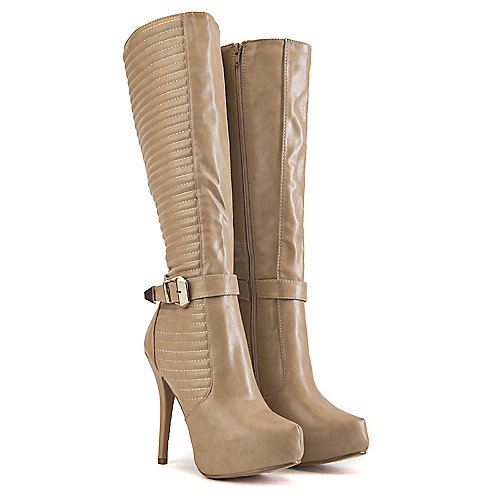 Nature Breeze Knee-High Boots Amber-02 Beige