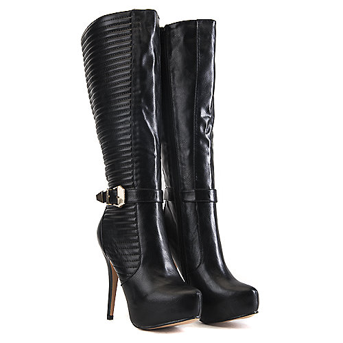 Nature Breeze Knee-High Boots Amber-02 Black