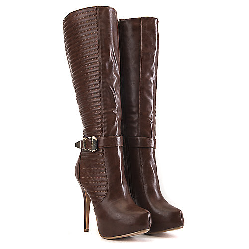 Nature Breeze Knee-High Boots Amber-02 Brown