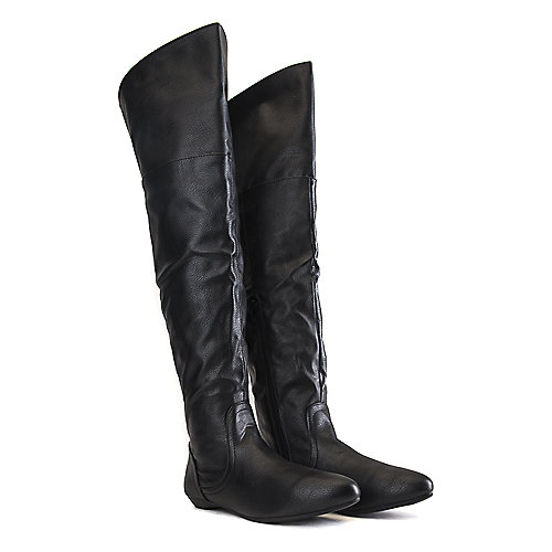 Bamboo Tiara-44 Thigh-High Boots Black
