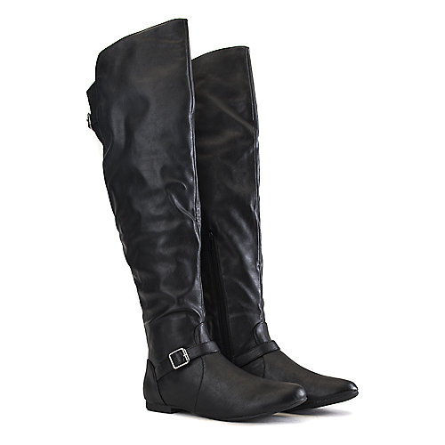 Bamboo Zoria-62 Thigh-High Boots Black