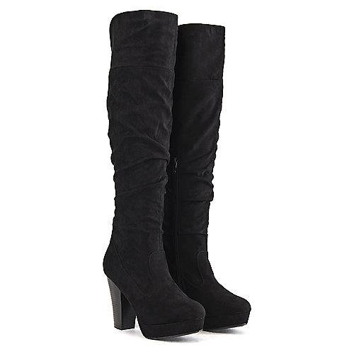 Bamboo Women's Huxley-13 Knee-High Boot Black Knee-High Boots