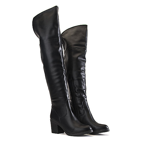 Bamboo Victoria-01 Knee High Boots Black