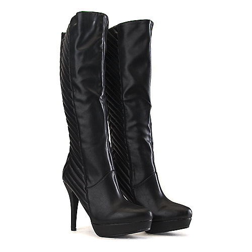 Bamboo Marcella-18 Knee-High Boots Black