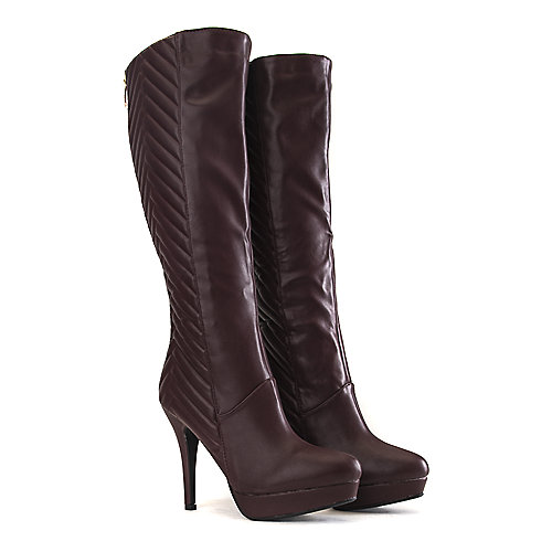 Bamboo Marcella-18 Knee-High Boots Burgundy