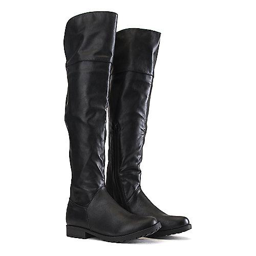 Bamboo Monterey-08 Low-Heel Boots Black