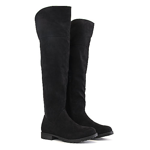 Bamboo Women's Monterey-08 Low-Heel Boot Black Low Heel Boots