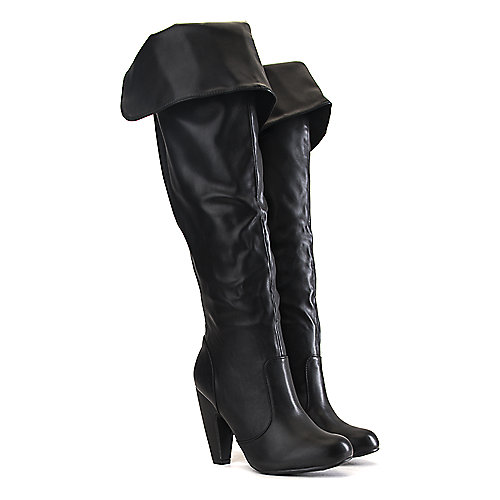 Bamboo Mozza-12 Knee-High Boots Black