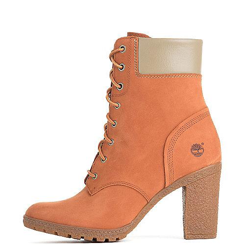 Timberland Women's Low Heel Boot Glancy 6 IN Orange Low Heel Boots