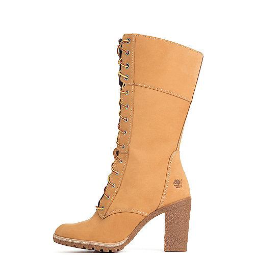 Timberland Women's Glancy 10 IN Low Heel Boot  Tan Low Heel Boots