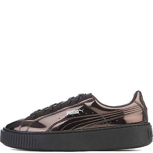 Puma Basket Platform Metallic Casual Sneakers Black Sneaker