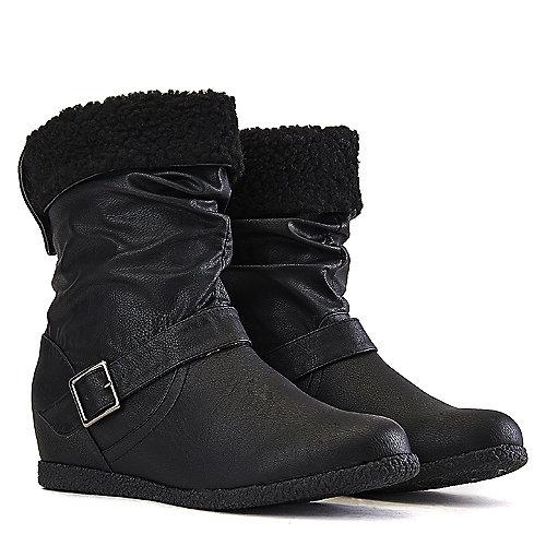 Wild Diva Delta-06 Mid-Calf Boots Black Mid-Calf Boots