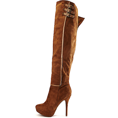 Wild Diva Women's Sonny-100 High Heel Boot Tan High Heel Boots