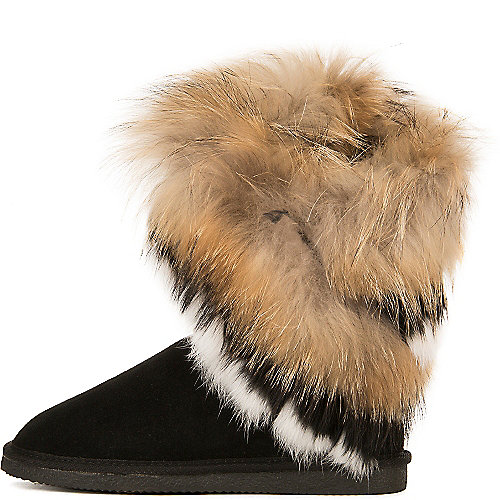 Cape Robbin Giselle-KLH-1 Fur Boots Black