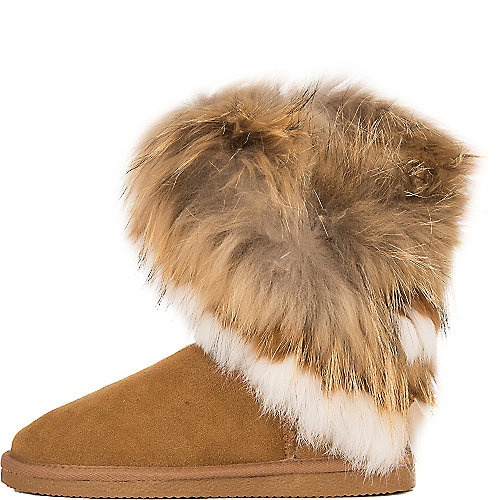 Cape Robbin Giselle-KLH-1 Fur Boots Tan