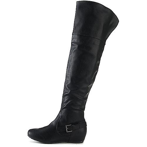 Wild Diva Candies-159 Thigh-High Boots Black