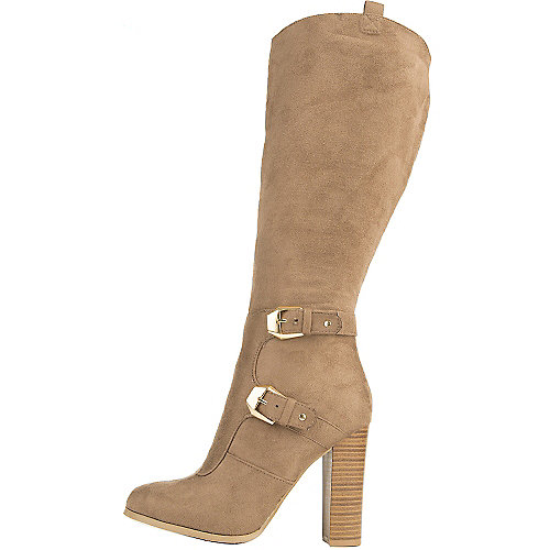 Wild Diva Women's Emilia-01 Knee-High Boot Taupe Knee-High Boots