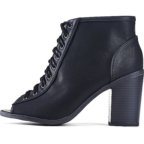 Soda Audrina-S Lace-Up Ankle Boots Black